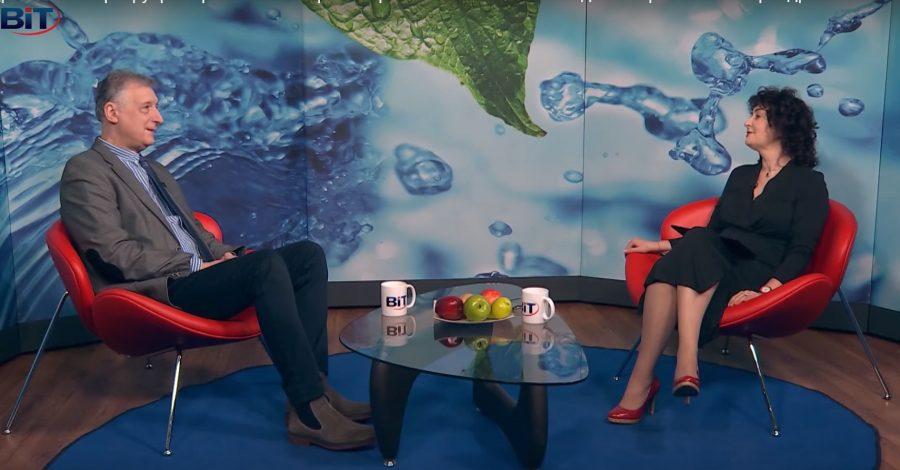 """Д-р Юлиан Йорданов и Магдалена Гигова разговарят за причините за прекомерното изпотяване и начините за справяне с него в студиото на """"О!Здравей"""" по телвизия BiT"""